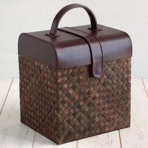 送料無料 パンダン ブラウン&ブラウン メイクアップボックス 化粧箱 メイクボックス コスメティック コスメ メイク 化粧品 収納|age