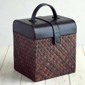 送料無料 パンダン ブラック&ブラウン メイクアップボックス 化粧箱 メイクボックス コスメティック コスメ メイク 化粧品 収納|age