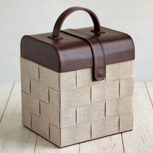 送料無料 ファブリック メイクアップボックス 化粧箱 メイクボックス コスメティック コスメ メイク 化粧品 収納|age