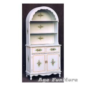 Como白家具 クラック塗装 オープン飾棚 !ホワイト輸入家具【送料無料】 新生活|age