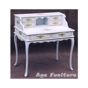 Como白家具 クラック塗装 デスク!ホワイト輸入家具【送料無料】 新生活|age