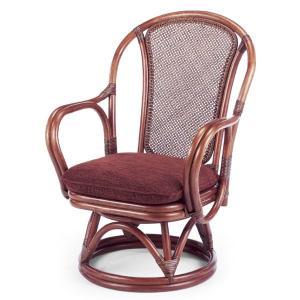 送料無料 上質な 籐 シィーベルチェアー 回転式 幅57 高さ80 ( ラタン チェア アームチェアー 椅子 いす 敬老の日 イス A-200MD )|age