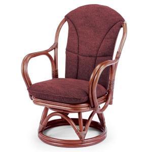 送料無料 上質な 籐 シィーベルチェアー 回転式 幅57 高さ80 ( ラタン チェア アームチェアー 椅子 いす 敬老の日 イス A-200MDF )|age
