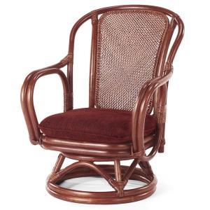 送料無料 上質な 籐 シィーベルチェアー 回転式 幅57 高さ72 ( ラタン チェア アームチェアー 椅子 いす 敬老の日 イス A-200SD )|age