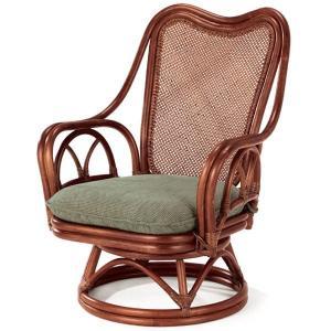 送料無料 4種類の柄から選べる 上質な 籐  回転式 シィーベルチェアー幅62 高さ84 ( ラタン チェア アームチェアー 椅子 いす 敬老の日 イス A-228D )|age