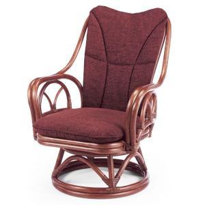 送料無料 2種類の柄から選べる 上質な 籐 回転式 シィーベルチェアー 幅62 高さ84 ( ラタン チェア アームチェアー 椅子 いす 敬老の日 イス A-228DF )|age