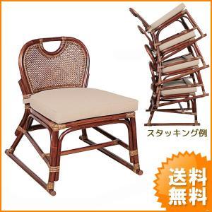 送料無料 スタッキング 式 上質 な 籐 スタッキングチェアー ( ラタン チェア 椅子 いす イス A-22D )|age