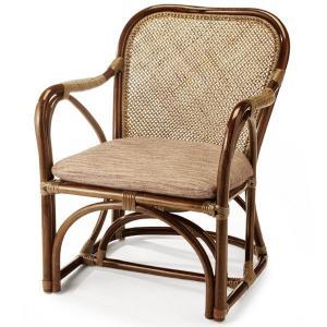 送料無料 4種の柄から選べる 上質な 籐 アームチェアー アジロ編( ラタン チェア 椅子 いす 敬老の日 イス A-27CN )|age