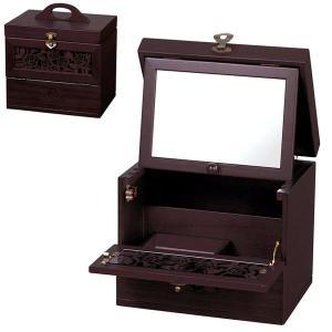 送料無料 コスメティックボックス ( メイクボックス コスメボックス 化粧箱 小物入れ 引出し付き アンティーク ) G-1328R|age