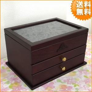 木彫 アクセサリーボックス おしゃれ ジュエルボックス 宝石箱 小物入れ バラ アンジェラ G-1356R 新生活 送料無料|age