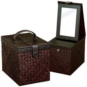 送料無料 コスメティックボックス ( メイクボックス コスメボックス 化粧箱 小物入れ モダン ) G-5685B|age