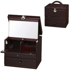 【 送料無料 】 日本製 コスメティックボックス ( 国産 メイクボックス コスメボックス 化粧箱 小物入れ 引出し付き クラシック ) G-575R|age