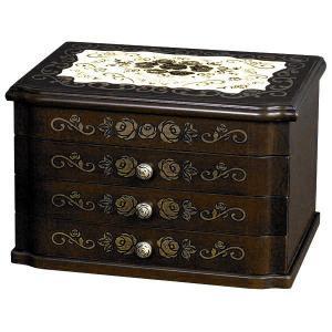 日本製 高級感のある ジュエルボックス ( ジュエリーボックス 宝石箱 アクセサリーボックス 小物入れ 国産 ) G-909B 新生活|age