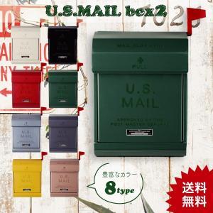 ポスト おしゃれ スリム 壁掛け 文字あり ダイヤルロック式 アメリカン メールボックス 郵便ポスト 郵便受 TK-2078 U.S. Mailbox2 オシャレ お洒落 新生活 age