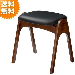 スツール おしゃれ 木製 北欧 レザー スタッキング ブラック AK-520DO 曙工芸製作所 イス チェア チェアー sutu-ru stool AKEBONO 送料無料|age