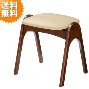 スツール おしゃれ 木製 北欧 レザー スタッキング アイボリー AK-520DO 曙工芸製作所 イス チェア チェアー sutu-ru stool AKEBONO 送料無料|age