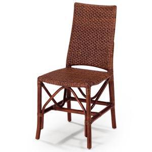 送料無料 上質な 籐 レストランチェアー 幅43 高さ88 ( ラタン チェア ダイニングチェアー 椅子 いす 敬老の日 イス B-112D )|age