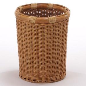 新生活 直径23×高さ28(cm)ラタン(籐)を使用した、上質な籐製品のフリーバスケットです。 ■全...