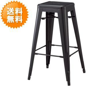 送料無料 ブラック カウンターチェアー ( スチール製 モダン お洒落 黒 バーチェアー ハイチェアー カフェチェアー 椅子 いす イス CC-245-D )|age