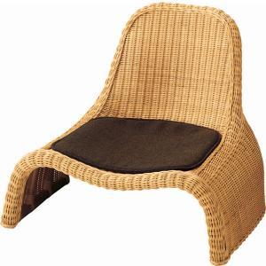送料無料 えぼしソファ ( 一人掛け 籐 ラタン 座椅子 ローチェア 1P チェア ソファー 和彩 ) RA-806|age