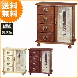 送料無料 日本製 アンティークスタイル ジュエルボックス エクセレンス ( ジュエリーボックス 宝石箱 アクセサリーボックス 国産 ) G-1878N G-1878R G-1878B age