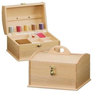 送料無料 木製 ソーイングBOX カモミール ( ソーイングボックス 裁縫箱 引出し付き ナチュラル ) H4366 新生活|age
