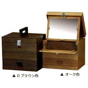 送料無料 メーキャップBOX ライン ( メイクボックス コスメボックス 化粧箱 小物入れ シンプル ) M2331|age