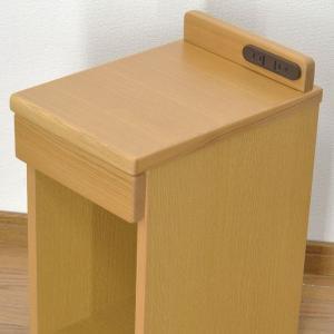 完売致しました。送料無料 幅25cm ナイトテーブル コンセント付き 引き出し付き スリム 細い 省スペース コンパクト サイドテーブル MG-25|age|03