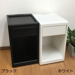ナイトテーブル おしゃれ ブラック ホワイト 送料無料 シンプル モダン デザイン サイドテーブル NT-468 黒 白|age