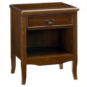 ナイトテーブル おしゃれ クラシック 調 サイドテーブル 木製 完成品 電話台 FAX台 サポーレ2312 新生活 age