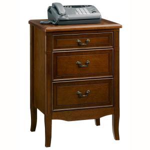 チェスト おしゃれ 幅50 クラシック 調 3段 収納 電話台 FAX台 ナイトテーブル サイドテーブル サポーレ2313 新生活 age