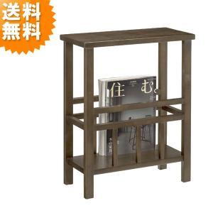 マガジンラック おしゃれ 木製 完成品 スパーダ 5125 spada サイドテーブル ソファテーブル ブラウン|age