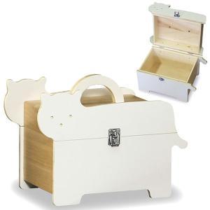 送料無料  可愛らしい 木製 救急箱 キャット ( ネコ 猫 薬箱 救急ボックス 小物入れ サプリメントボックス ) T5526|age