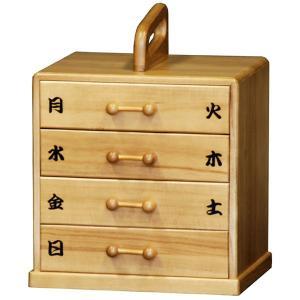 送料無料 1週間用 桐の 薬箱 ( 救急箱 救急ボックス 小物入れ サプリメントボックス ) T5554|age