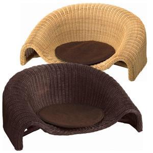 送料無料 和彩 胡座 ( ござ ゴザ ) ナチュラル/ダークブラウン 座椅子 ローチェア 1Pチェア 和彩胡座 RA-802|age