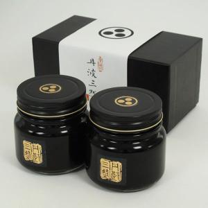 京都の高級料亭でも使われる最高級 丹波篠山産 丹波黒 黒豆煮 290g瓶×2個セット 化粧箱入り