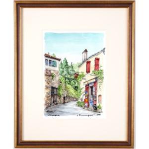 ●画家名:高橋文平 ●作品名:サン・シル・ラポピー ●絵のサイズ:W22×H31cm(F4号) ●額...