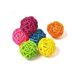 Loveril マンチボール6個入り ペット用おもちゃ インコ オウム ハムスターなど 食用色素を使用