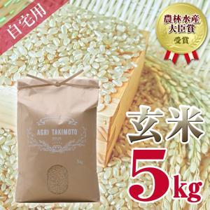 自宅用玄米(5kg×1) コシヒカリ 農林水産大臣賞受賞  / 玄米 お米 ご飯 5kg|agri-takimoto