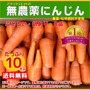 【送料無料】無農薬ジュース用洗い人参10kg agricreate