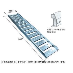 1.2t アルミブリッジ 2本セット アルミス アルミブリッジ ABS-240-40-1.2(フック式・ツメ式)道板 歩み板 ラダー 小型建機・農機用|agriz