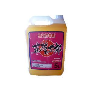 (除草剤) グリホサート系の根まで枯らす除草剤 草枯れ太郎 5L|agriz