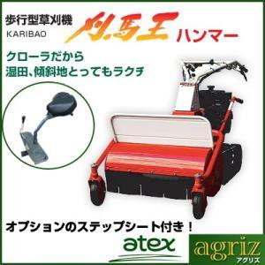 アテックス 自走式草刈機 RX-651A 刈馬王 ハンマーナイフモア (刈幅650mm) + ステップシートSET付き|agriz
