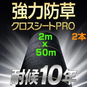 耐候年数約10年以上! 日本マタイ 強力 防草クロスシート PRO 2×50m (HC10652) 2本入 太陽光発電 メガソーラー agriz