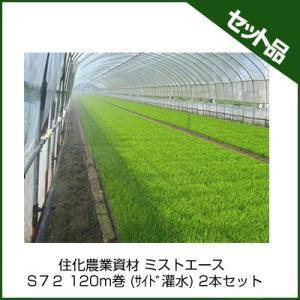 住化農業資材 ミストエース S72 120m巻 (サイド灌水) 2本セット 潅水チューブ 灌水チューブ|agriz