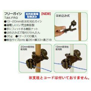 取付け簡単、漏電しにくい樹脂製ガイシシリーズ!  「仕様/特徴」  ・13〜20mm径支柱対応ガイシ...