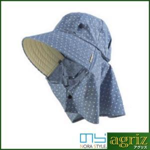 のらスタイル ふわっと涼しい帽 水玉|agriz
