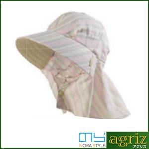 のらスタイル ふわっと涼しい帽 ガーゼストライプ|agriz