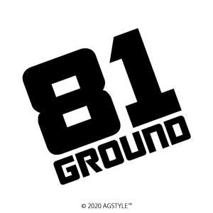81GROUND square カッティングステッカー JDM USDM HDM STANCE オリジナル デザイン 車 スタンス エイティーワン グラウンド|agstyle