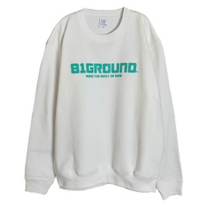 81GROUND MAKE THE MOST OF NOW クルーネック スウェット ホワイト オリジナル インディーズ ブランド|agstyle